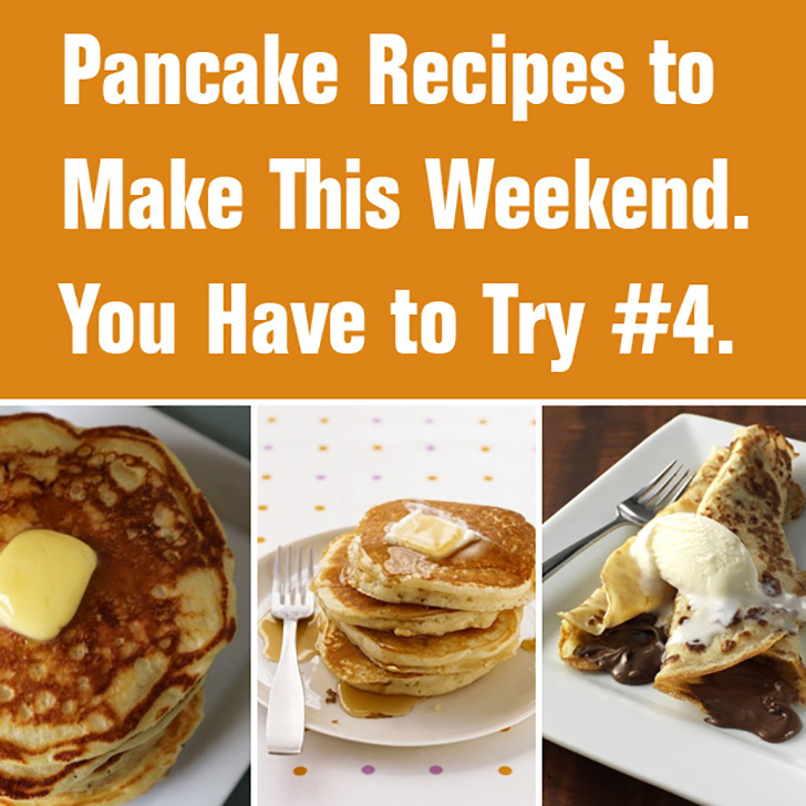 Pancake Recipes to Make this Weekend. You have to try #4.