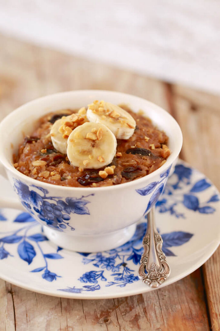 13 College Student Recipes - Breakfast Cookie in a Mug