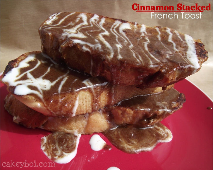 Brunch Recipes - Cinnamon Stacked French Toast.